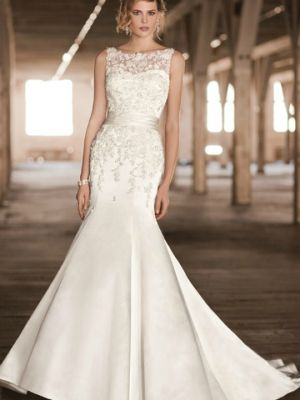 Lace Overlay Wedding Gowns