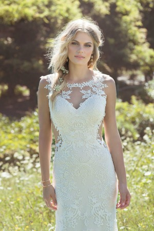 280e80d84cf25 THEIA 'CALISTA' BRIDAL GOWN Size: 12 Ivory over Champagne